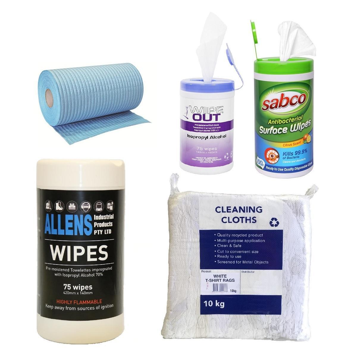 Wet Wipes and Rags
